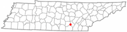 Location of Palmer, Tennessee