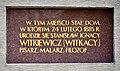 Tablica Stanisław Ignacy Witkiewicz ul. Hoża 11.jpg