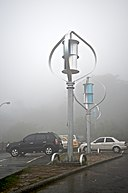 Taiwan 2009 JinGuaShi Historic Gold Mine Combined Darrieus Savonius Wind Turbines FRD 8638.jpg