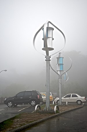 Darrieus wind turbine - Combined Darrieus-Savonius generator used in Taiwan