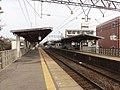 Takadahonzan Station-Platform 20120115.jpg