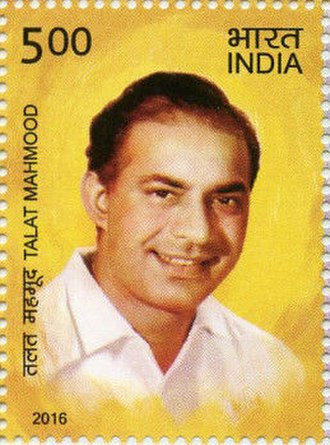 Talat Mahmood - Mahmood on a 2016 stamp of India