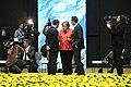 Tallinn Digital Summit. Round table Emmanuel Macron, Angela Merkel, Christian Kern (37344696806).jpg