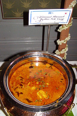 South Indian cuisine - Andhra chapala pulusu, or Andhra tamarind fish curry