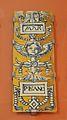 Taulell policrom atribuït a Niculoso Pisano, Museu de Ceràmica de València.JPG