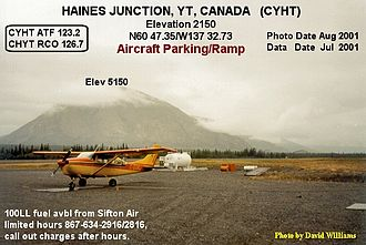 Haines Junction Airport - Image: Taxiway, Haines Junction airport, Yukon