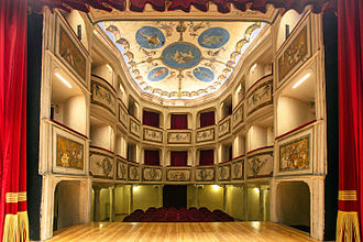 Teatro della Concordia (Monte Castello di Vibio, Italy) - Teatro della Concodia, auditorium