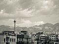 Tehran Skyline, Milad Tower and Alborz Mountains, Iran (10059004754).jpg