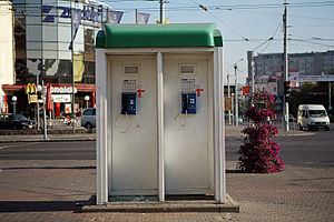 Telecommunications in Belarus - Telephone booths in Minsk, September 2007
