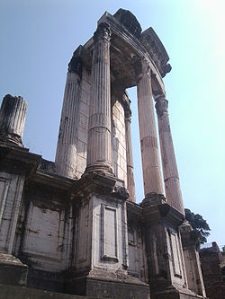 Remains of the Temple of Vesta