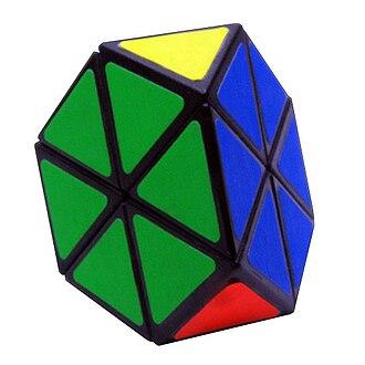 Pyraminx - A solved Tetraminx.