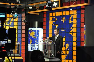 Texas Lottery - A lottery drawing being conducted at the television studio at Lottery Commission headquarters