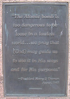 West Wendover, Nevada - Quote from Harry S. Truman on USAAF Monument