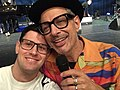The American actor Jeff Goldblum with a fan in Berlin, Germany.jpg