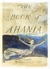 The Book of Ahania cover