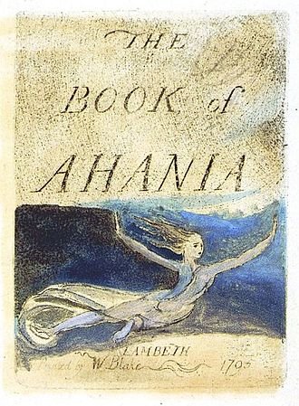 The Book of Ahania - Title page from the Book of Ahania'