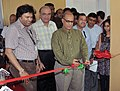 The Chief Minister of Goa, Shri Digambar Kamat inaugurating the media lounge after the Curtain Raiser Press Conference on IFFI-2010 at the media Center, Maquinez Palace, Panaji, in Goa on November 21, 2010.jpg