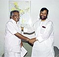 The Chief Minister of Kerala, Shri Oommen Chandy calls on the Union Minister for Chemicals and Fertilizers & Steel, Shri Ram Vilas Paswan in New Delhi on April 28, 2005.jpg