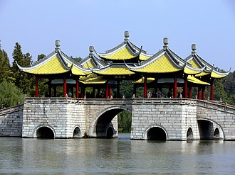 Yangzhou - Five Pavilion Bridge at the Slender West Lake