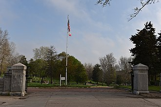 Forest Cemetery Entrance - Image: The Forest Cemetery Entrance