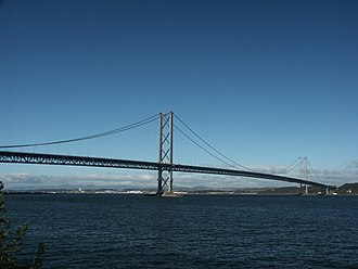 Forth Road Bridge - View from South Queensferry