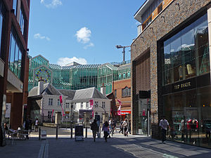 Bristol city centre -  The North Entrance to the Galleries Shopping Centre, Broadmead