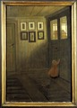 The Girl at the Door. Interior of the Artist's home, Älvängen (Ivar Arosenius) - Nationalmuseum - 19704.tif
