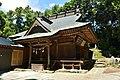 The Haiden of Iina-jinja shrine (Tsukuba city,Ibaraki prefecture).jpg