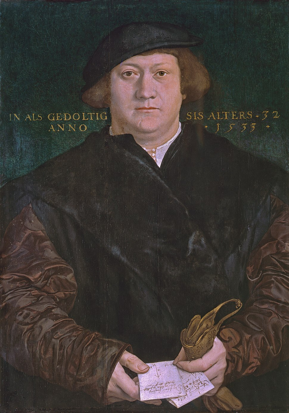 The Hanseatic merchant Cyriacus Kale, by Hans Holbein