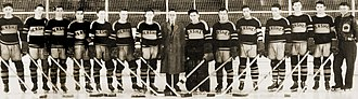 Hershey Bears - The 1932-33 Hershey B'ars at the Ice Palace, Hershey's first pro hockey team (Tri-State Hockey League)