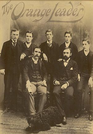 The Leader (Orange, NSW) - Staff portrait from The Orange Leader, C1900