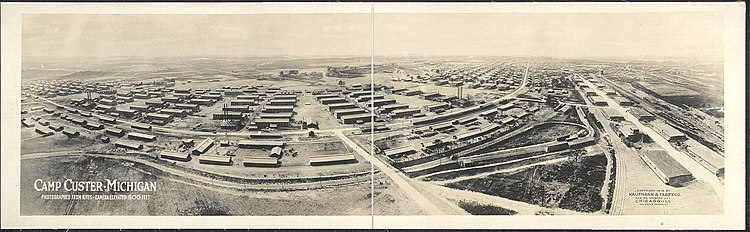 1917 : Camp Custer Construction Begins