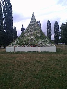 pyramid with plants