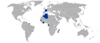 Das Zweite Kaiserreich mit Kolonialbesitz 1870