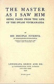 <i>The Master as I Saw Him</i> book by Sister Nivedita