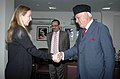 The Minister of Environment, Land and Sea, Italy, Ms. Stefania Prestigiacomo meeting the Union Minister of New and Renewable Energy, Dr. Farooq Abdullah, in New Delhi on February 05, 2010.jpg