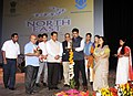 "The Minister of State for Information & Broadcasting, Col. Rajyavardhan Singh Rathore lighting the lamp to inaugurate the Three-day North East Film Festival on the theme of ""Fragrances from the North East"".jpg"