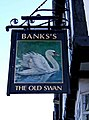 The Old Swan pub sign, 175 Long Street - geograph.org.uk - 1639353.jpg