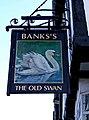The Old Swan pub sign, 175 Long Street - geograph.org.uk - 1639353.jpg