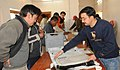 The Polling Officials collecting the EVM and other related materials for the use in the 5th phase of General Election-2009 from one of the distribution centre at Leh, Ladhakh on May 12, 2009.jpg