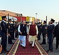 The Prime Minister, Shri Narendra Modi warmly received by the Prime Minister of Pakistan, Mr. Nawaz Sharif, at Lahore, Pakistan on December 25, 2015 (3).jpg