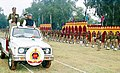 The Railway Minister Shri Nitish Kumar inspecting the Guard of Honour at the Investiture Parade of Railway Protection Force (RPF) in Delhi on December 16, 2003.jpg