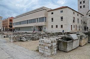The Roman forum remains of Iader, Zadar, Croatia (15901686790)