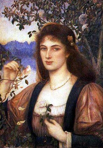 Marie Spartali Stillman - A Rose from Armida's Garden (1894) by Marie Spartali Stillman.