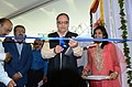 The Secretary, Ministry of Information and Broadcasting, Shri Bimal Julka inaugurating the 18th International Children Film Festival Media Centre, at Hyderabad on November 11, 2013.jpg