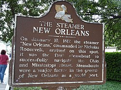 The steamer   new orleans historical marker (3)