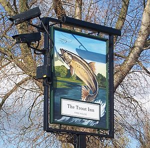 The Trout Inn - The Trout Inn sign