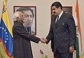 The Vice President, Shri M. Hamid Ansari calling on the President of Venezuela, Mr. Nicolás Maduro, in Margarita, Venezuela on September 16, 2016.jpg