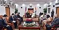 The Vice President, Shri M. Venkaiah Naidu interacting with the Prime Minister of the Kingdom of Cambodia, Mr. Samdech Akka Moha Sena Padei Techo Hun Sen, in New Delhi on January 27, 2018 (1).jpg