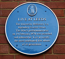 Plaque at Leeds University